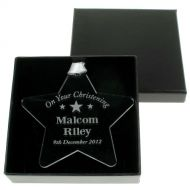 Personalised Christening Star: Boy