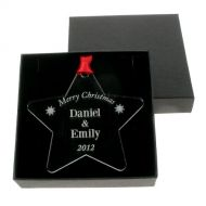 Personalised Christmas Bauble: Couple