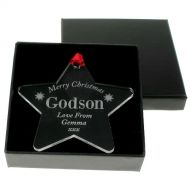Engraved Godson Christmas Bauble