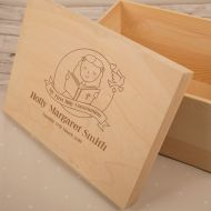 Personalised Laser Engraved 1st Communion Keepsake Box for a Girl
