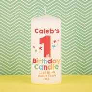 First Birthday Candle