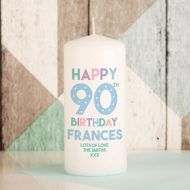 90th Birthday Candle