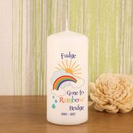 Rainbow Bridge Pet Memorial Candle