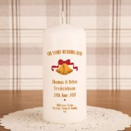 Wedding Bells Printed Candle
