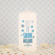 Let it Snow Printed Candle