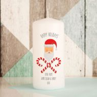 Happy Holidays Printed Candle