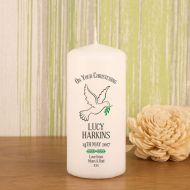 Dove Christening Candle