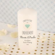 Engagement Printed Candle