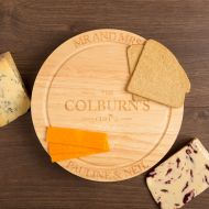 Personalised Family Cheeseboard with Knives