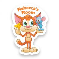 Cat and Mouse Doorplaque