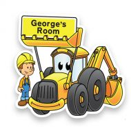 Yellow Digger Doorplaque