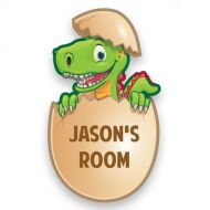 Dinosaur Bedroom Door Plate