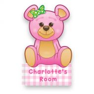 Pink Teddy Bear Doorplaque