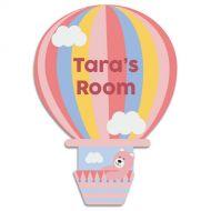 Pink Hot Air Balloon Door Plaque