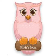 Pink Owl Door Plaque