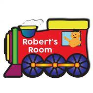 Train Bedroom Door Plaque