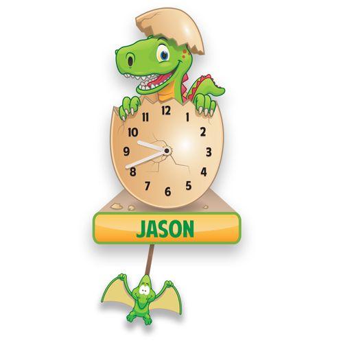 Personalised Dinosaur Pendulum Clock
