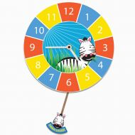 Educational Personalised Zebra Pendulum Wall Clock for Boys and Girls