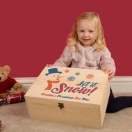 Childs Snowman Design Personalised Xmas Eve Box