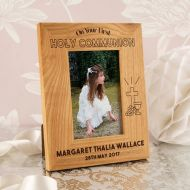 Personalised Oak Communion Frame