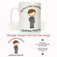 Personalised First Holy Communion Mug: Boy Design