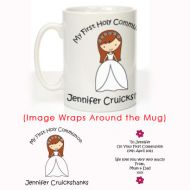 Personalised First Holy Communion Mug: Girl Design