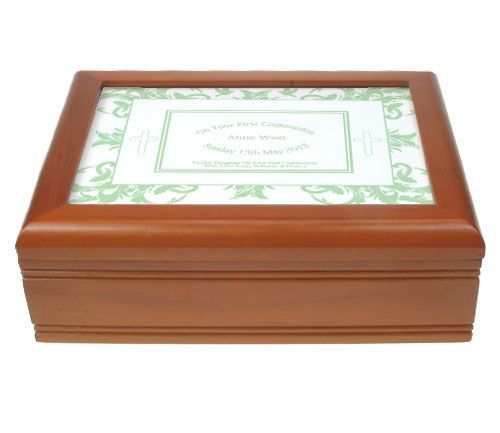 Mint Green First Holy Communion Jewellery Box
