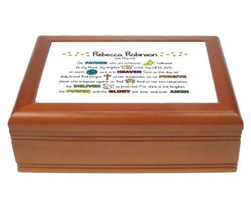 Lord's Prayer First Communion Jewellery Box