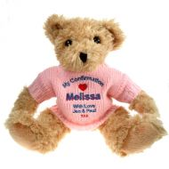 Confirmation Teddy Bear with Pink Jumper