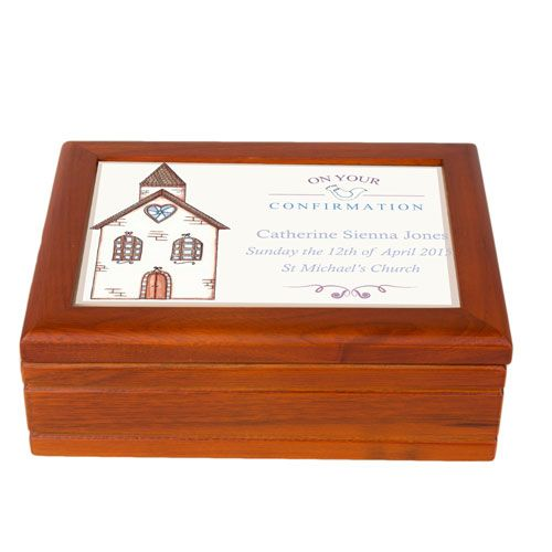 Church Design Musical Confirmation Jewellery Box