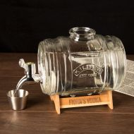 Barrel Drinks Dispenser with Engraved Stand