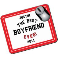 The Best Boyfriend Ever Personalised Mousemat