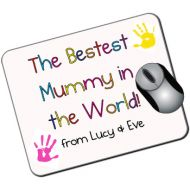 The Bestest Mummy in the World Personalised Mousemat