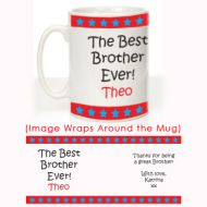 The Best Brother Ever Mug: Stars Design