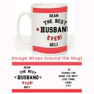 The Best Husband Ever Mug: Red Stripes