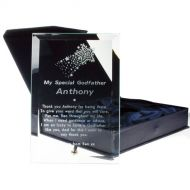 Engraved Godfather Glass Plaque: Christening Gift