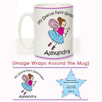 Special Fairy Godmother Mug: Christening Gift