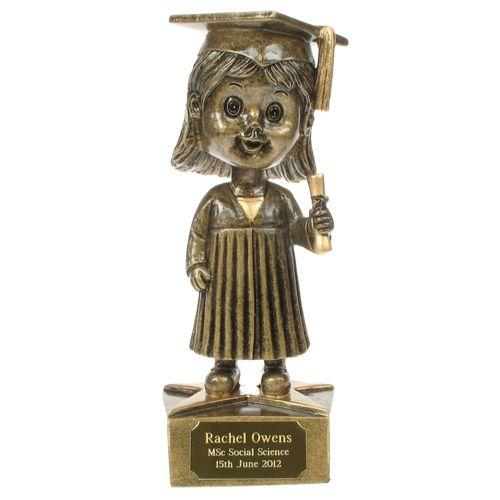 Personalised Female Bobblehead Graduation Statue