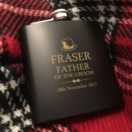 Personalised Father of the Groom Hip Flask Gift