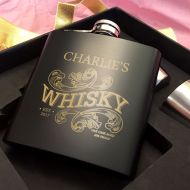 Personalised Whisky Hip Flask Gift Set