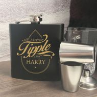 """Just a Little Tipple…"" Quirky Personalised Hip Flask"