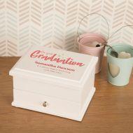 Personalised Graduation Keepsake Jewellery Box