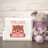 Baby Bear Design Personalised Jewellery Box for Little Girl