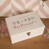 Premium Personalised Couples Wedding Memories Keepsake Box