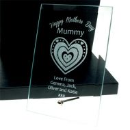 Personalised Mother's Day Glass Plaque