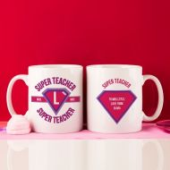 Teachers Customised Super Hero Mug