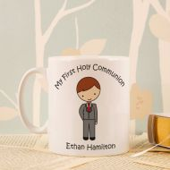 Personalised First Holy Communion Mug: Boy Design