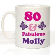 80 And Fab Birthday Mug For Her
