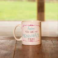 Personalised Mum, Mummy Wonderful Mug