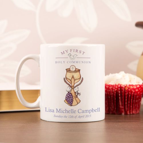 Personalised First Holy Communion Mug: Eucharist Design